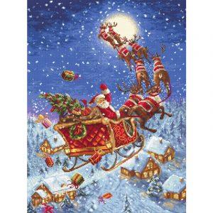 Набор для вышивания крестом Letistitch «Олени уже в пути!» The reindeers on its way! LETI.958