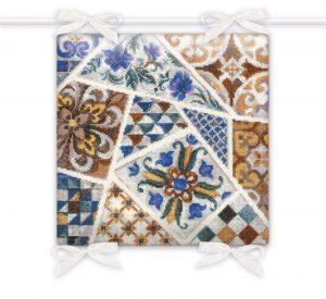 Набор для вышивки крестом Риолис Подушка «Мозаика» 1871