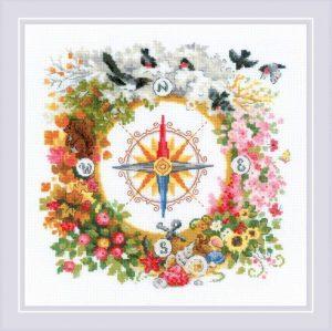 Набор для вышивки крестом Риолис «Компас» 1881