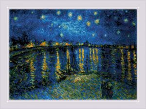 Набор для вышивки крестом Риолис «Звездная ночь над Роной» по мотивам картины В. Ван Гога 1884