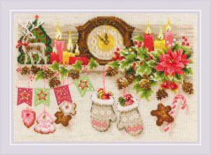 Набор для вышивки крестом Риолис «Рождественская полка» 1903