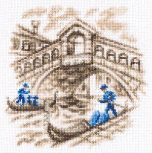 Набор для вышивки крестом RTO «На улицах Венеции»C327