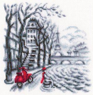 Набор для вышивки крестом RTO «На улицах Парижа» C330