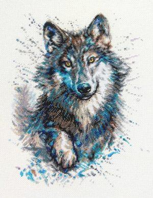 Набор для вышивки крестом RTO «Снежные брызги. Волк»M805