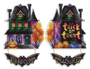 Набор для вышивания Жар-птица «Дом с призраками» Р-495