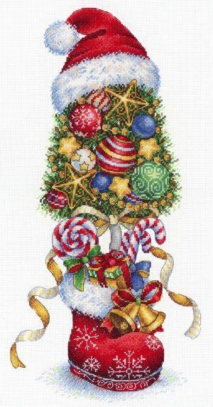 Набор для вышивания М.П. Студия «Топиарий Новогодний» НВ-732