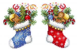 Набор для вышивания Жар-птица «Новогодний носок» Р-496