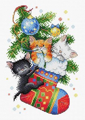 Набор для вышивания Жар-птица «Новогодний подарок» М-563