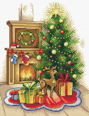 Набор для вышивания Жар-птица «Рождественский вечер» М-565