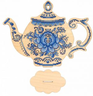 Набор для вышивания на деревянной основе М.П.CТУДИЯ «Приятного чаепития» О-010