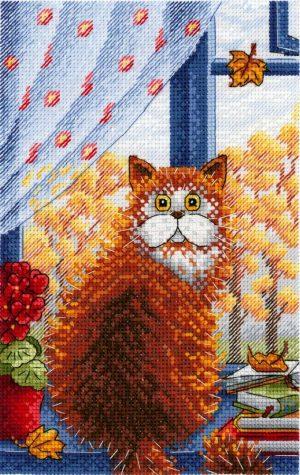 Набор для вышивания крестом М.П.Студия и Жар-птица «Рыжая осень» НВ-724