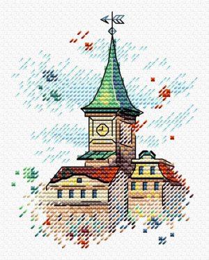 Набор для вышивания крестом М.П.Студия и Жар-птица «Крыши Таллина» М-564
