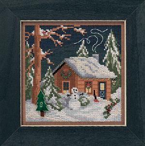 Набор для вышивания бисером MILL HILL «Рождественский домик» MH141834