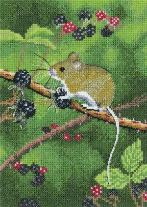 Набор для вышивания крестом Heritage «Лесная мышь» NAWM1498E