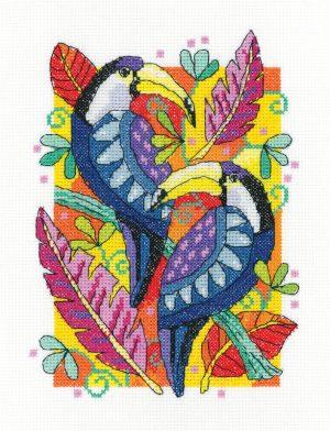 Набор для вышивания крестом Heritage «Туканы» KCTU1503A
