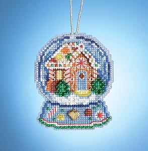 Набор для вышивания бисером MILL HILL «Имбирный дом - шар» MH161932