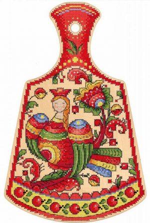 Набор для вышивания крестом М.П.Студия и Жар-птица «Птица счастья» О-009