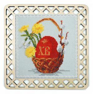 Набор для вышивания с пришивной рамкой Марья Искусница «Символ пасхи» 22.002.10
