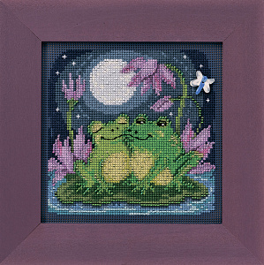 Набор для вышивания бисером MILL HILL «Влюбленные лягушки» MH142013