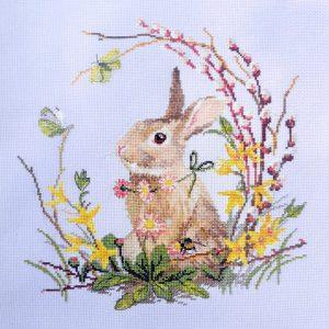 Набор для вышивания крестом Марья Искусница «Весенний кролик» 03.016.19
