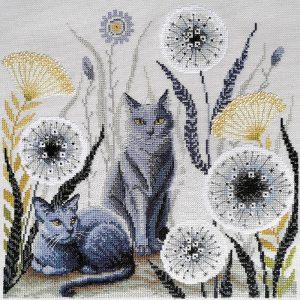 Набор для вышивания крестом Марья Искусница «Кошки» 03.017.08