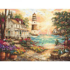Набор для вышивания крестом Letistitch «Cottage by the sea» LETI.962