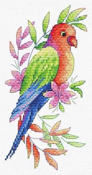 Набор для вышивания крестом М.П.Студия и Жар-птица «Птица» В-535