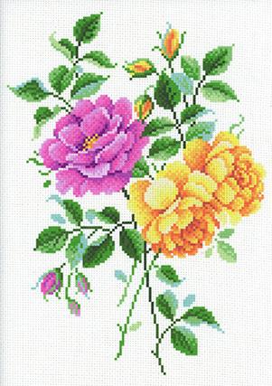 Набор для вышивания крестом М.П.Студия и Жар-птица «Нежность роз» СК-095