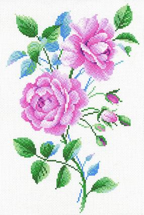 Набор для вышивания крестом М.П.Студия и Жар-птица «Розовый винтаж» СК-096