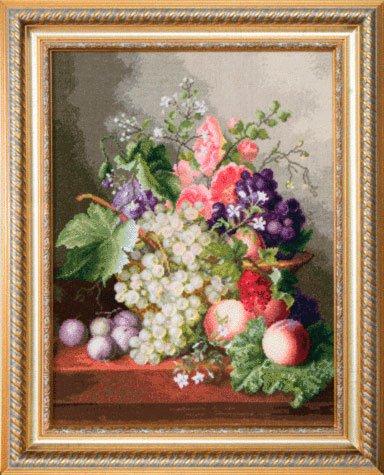 Набор для вышивки крестиком Чарiвна Мить «Натюрморт с виноградом» М-129