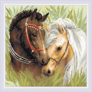 Алмазная мозаика Риолис «Пара лошадей» АМ0039