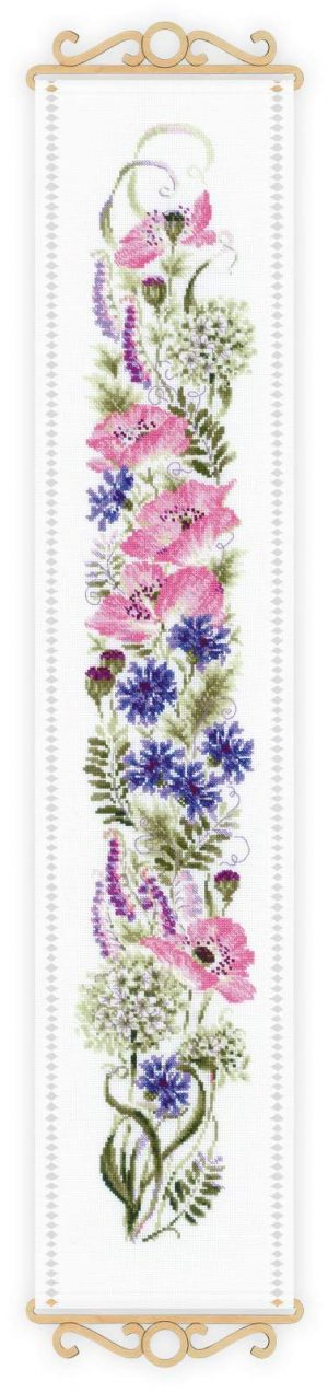 Набор для вышивания крестом Риолис «Цветочное ассорти» 1866