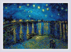 Алмазная мозаика Риолис «Звездная ночь над Роной» по мотивам картины В. Ван Гога АМ0044