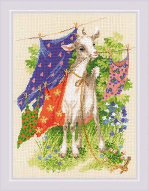 Набор для вышивания крестом Риолис «Озорная козочка» 1891
