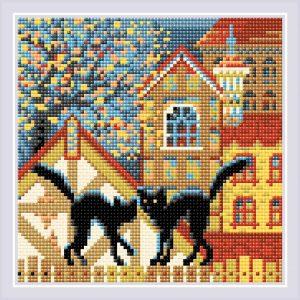Алмазная мозаика Риолис «Город и кошки. Осень» АМ0049