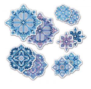 Набор для вышивания крестом Риолис «Снежинки» 1889АС