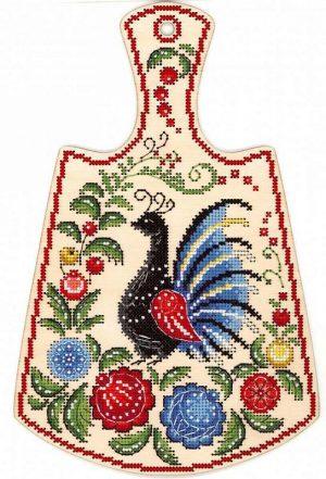 Набор для вышивания крестом М.П.Студия и Жар-птица «Расписной павлин» О-008