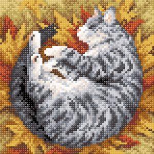 Алмазная мозаика Brilliart (М.П.Студия) «Полосатая осень» МС-045