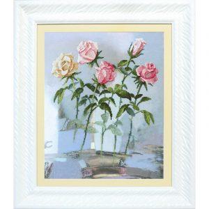 Набор для вышивки крестиком Чарiвна Мить «Пробуждение роз» РК-080