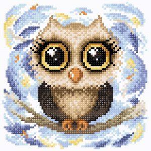 Алмазная мозаика Brilliart (М.П.Студия) «Трогательная совушка» МС-047