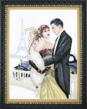 Набор для вышивки крестиком Чарiвна Мить «Свидание в Париже» М-328