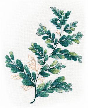 Набор для вышивания крестом Овен «Тропическая зелень №3» ov1316