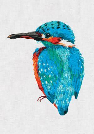 Набор для вышивания гладью Panna «Голубой зимородок» JK-2197