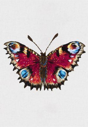 Набор для вышивания гладью Panna «Бабочка Павлиний глаз» JK-2198