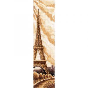 Набор для вышивания крестом Сделай своими руками. Закладка «Париж» сср.З-52