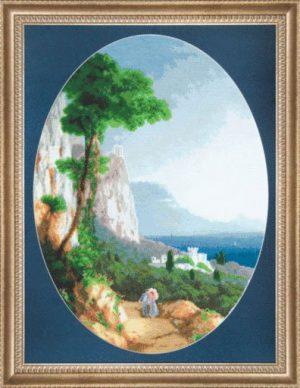 Набор для вышивки крестиком Чарiвна Мить «Крымские горы» М-137