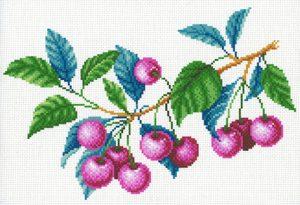 Набор для вышивания крестом М.П.Студия и Жар-птица «Вишневый сад» СК-099