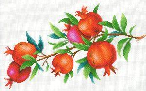 Набор для вышивания крестом М.П.Студия и Жар-птица «Гранатовая ветвь» СК-103
