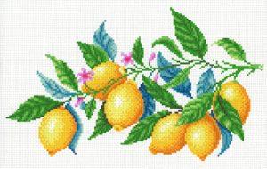 Набор для вышивания крестом М.П.Студия и Жар-птица «Лимонная гармония» СК-098