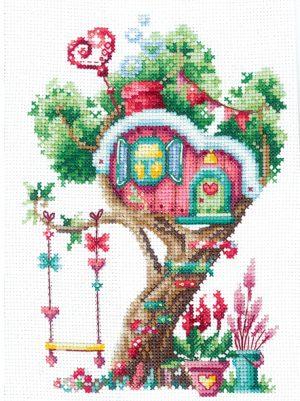Набор для вышивания крестом Сделай своими руками «Домики на дереве. Сладкий» Д-21